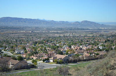 Looking down on East Highlands Ranch.