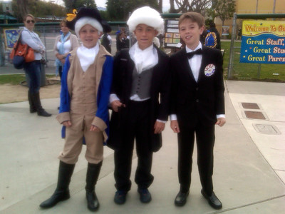 "CAMERON AT HIS SCHOOL AS ""JAMES MADISON""   APRIL 25, 2012"