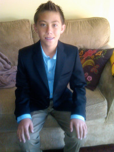 Cameron just before his graduation to Junior High June 2012