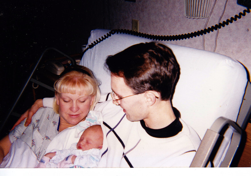 Baby Cassie with Parents