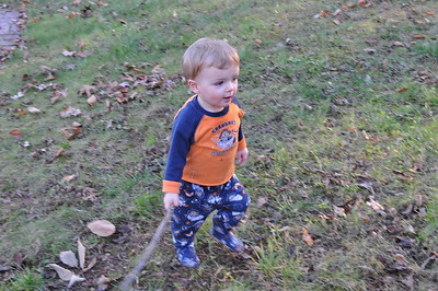 Playng in the Leaves 11-13-2010