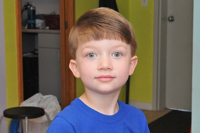 First Haircut at Barber Shop (After)