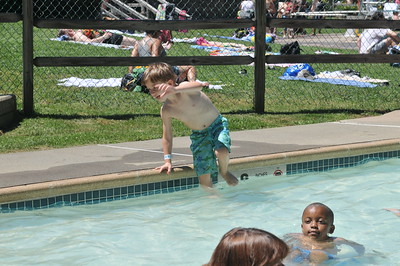 Jumping in Pool at Dattco Picnic June 19,2010