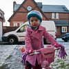 A bit of snow doesn't stop this intrepid cyclist