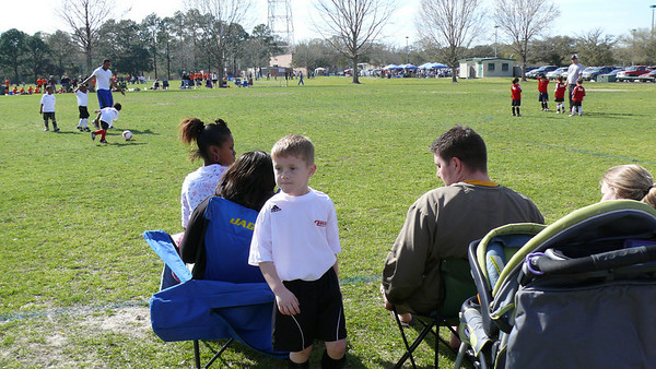Connors Soccer game 3/14/10
