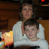Dalton and Mom at Texas Roadhouse Resturant for Dalton's 7th Birthday.