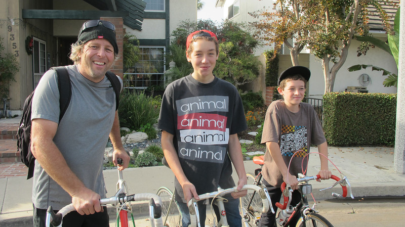 Dad, David (smiling) and Jeffrey...Team Schwinn! 2013