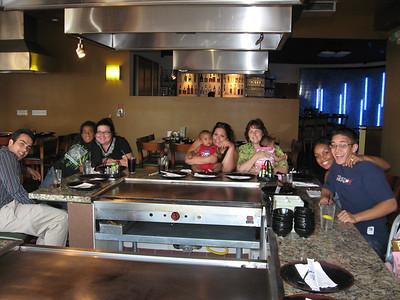 Having dinner at Sayaka's Restaurant before leaving.