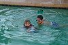 September - Enjoying the pool with Cousin Parker