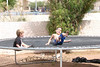 September - enjoying the trampoline with Cousin Parker