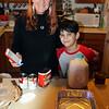 Christmas - helping Grandma prepare green bean casserole for the Legion pot-luck