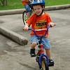 Zac recently taught Joshua to ride his bike with no training wheels.