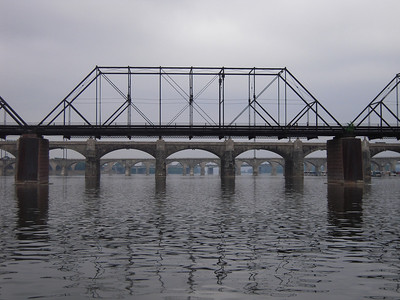 Foot Bridge connecting City Island with Harrisburg