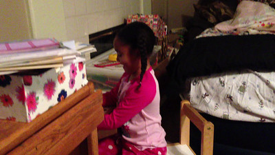 Video of girls watching and singing to Madagascar III.