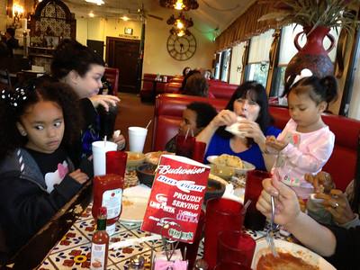 Family lunch at Taco Joe's Restaurant.