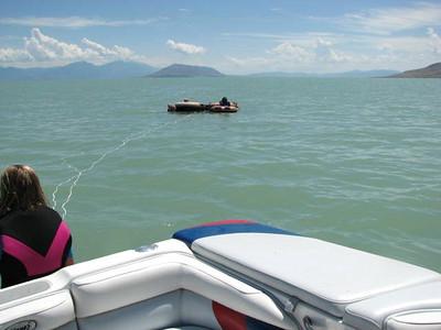 Grandkids at Utah Lake 7-11