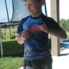 Asher's makeshift swim suit (Chris can find all kinds of emergency duds for kids).