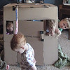 Grandpa took the big box the baby bassinet arrived in and turned it into a fun playhouse that was enjoyed again and again.