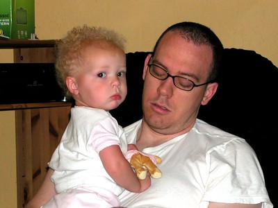 Grandpa's Visit with Tyler and Ella- May 2006