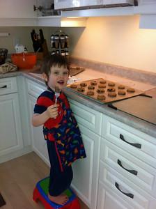Evan making cookies  :)