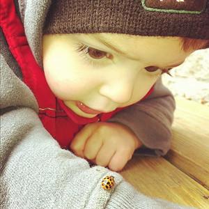 Eli and a ladybug  :)