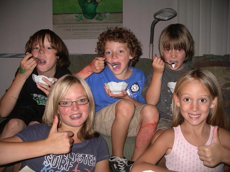 5/8 eating homemade ice cream