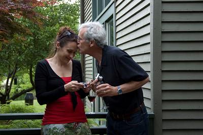 Stephen giving Susannah a kiss