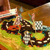 Jackson requested a 'race car birthday cake'  I found one to go by on the computer.