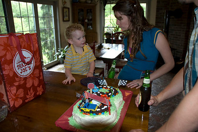 Jackson and Lindsey talk about the cake.