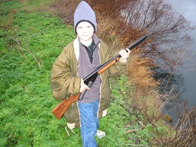 Jakob's first hunting trip