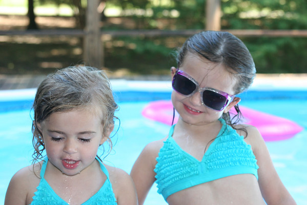Kallyn and Taylee @ Grannie's Pool 2011