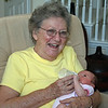 The greatgrandmother (Doris, Celita's mother) with Kamryn during her visit to Dallas in July, 2009...