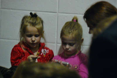 Kelsey (left) and her bud at Kendall's program