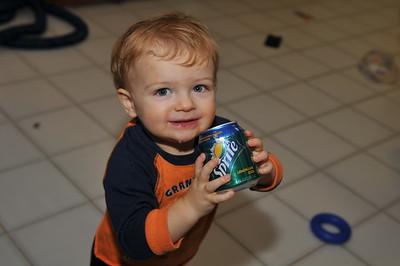Kyle drinking soda 11-11-2010