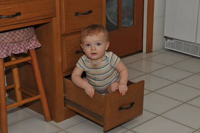 Sitting in his drawer