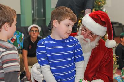 Visiting Santa at CHS