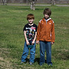 Grandsons Josh(8) and Jacob(12) left to right respectively at the Fannin battlefield memorial in Fannin, TX.
