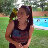 Jacey, grandson Jacob's girlfriend, and parrot shot from Brother Bill's iPhone.
