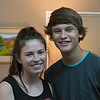 Jacey and Jacob, my grandson.