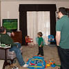 "Jax gets into the action with the ""big kids"" between dinner and dessert on St. Pat's Day."