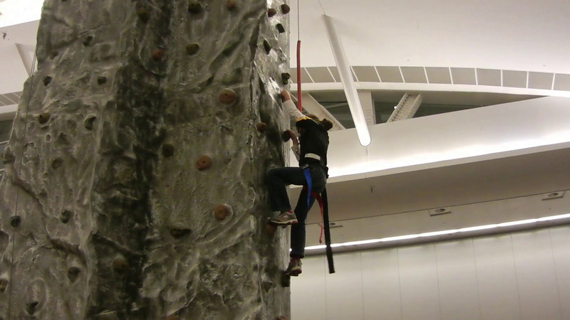 Here's Natalie climbing at the December 2011 Piratefest.