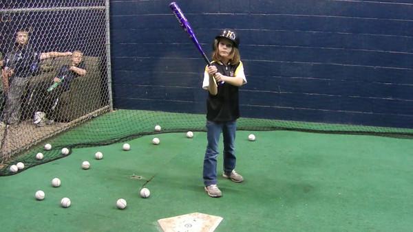 Natalie In Pirates Batting Cage