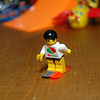 Lego man warming up for the ski contest.