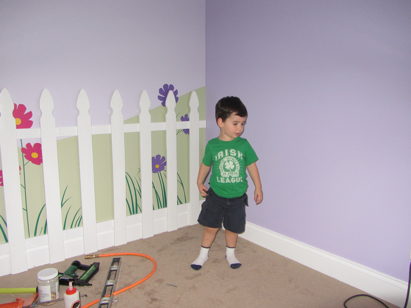As soon as we arrived, Nate was very excited to show us Emma's room