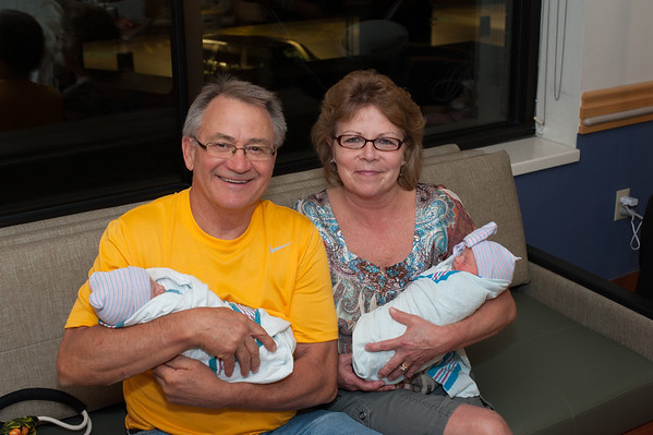 Very proud Miller Grandparents with Nolan and Payton