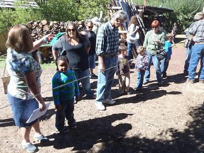 Gathering at the rope making process.