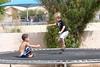 September - Enjoying the trampoline with cousin Gabe