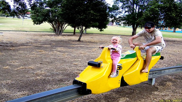 Paige and Paul have fun in Gympie