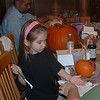 Paint the pumpkin  'Bella, not  your hand!