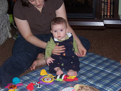 Playtime for Evan and Mom